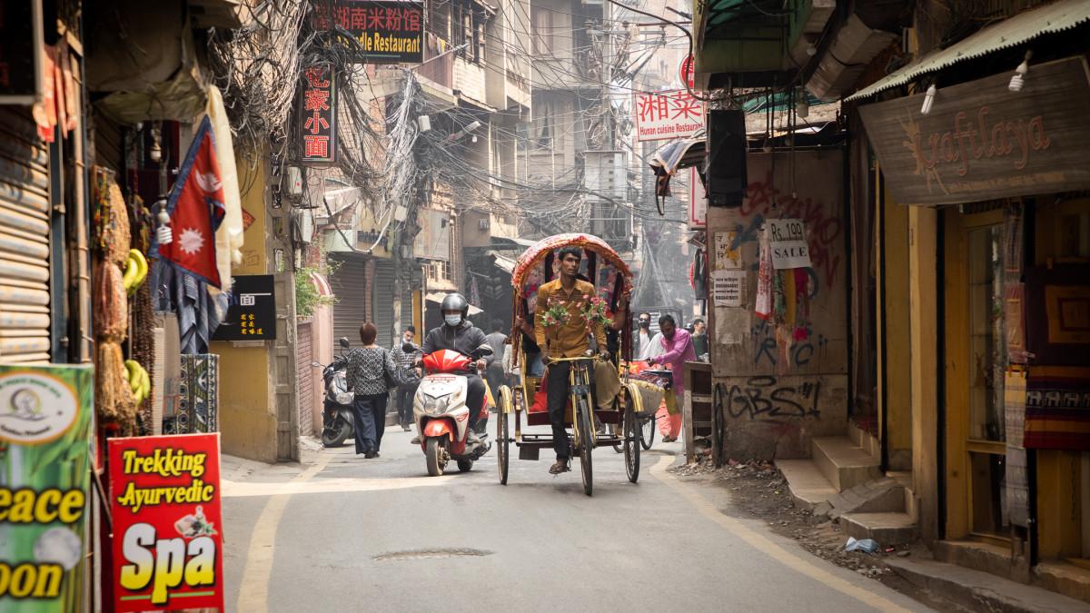 In Kathmandu, Nepal.