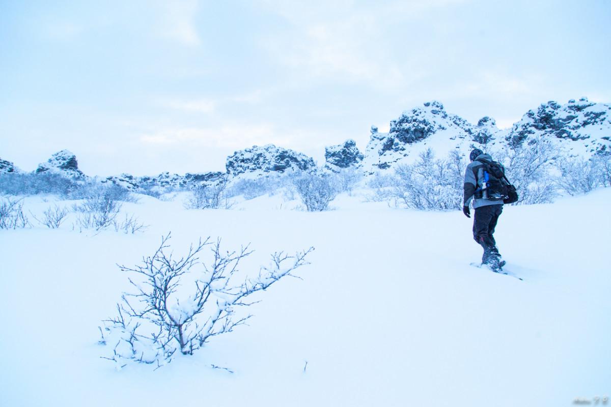 Mývatn _ Dimmuborgir Winter hike
