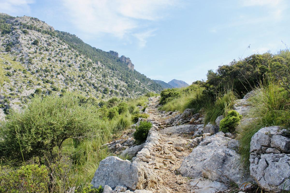 Ook vandaag doet de Dry Stone Route z'n naam weer eer aan. Foto: Pauline van der Waal