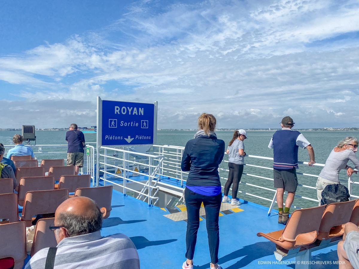 Op de veerboot vanuit Royal naar Le Verdon. Foto: Edwin Hagenouw