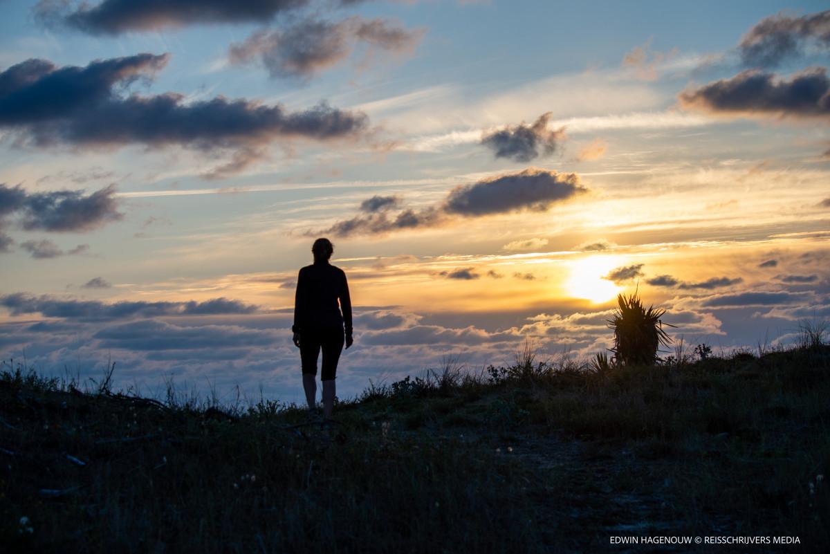 Zonsondergang bij Euronat. Foto: Edwin Hagenouw