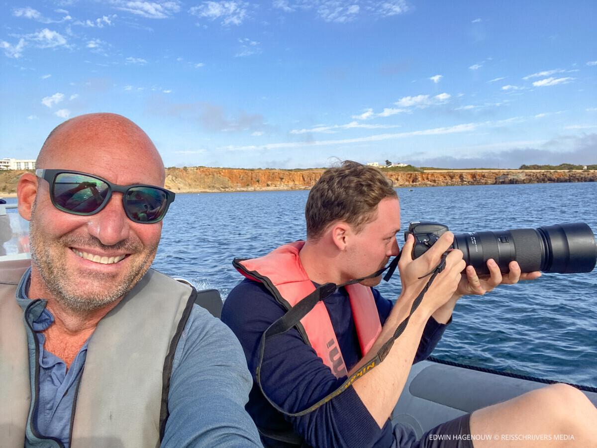 Zee-safari bij Sagres. Foto: Edwin Hagenouw