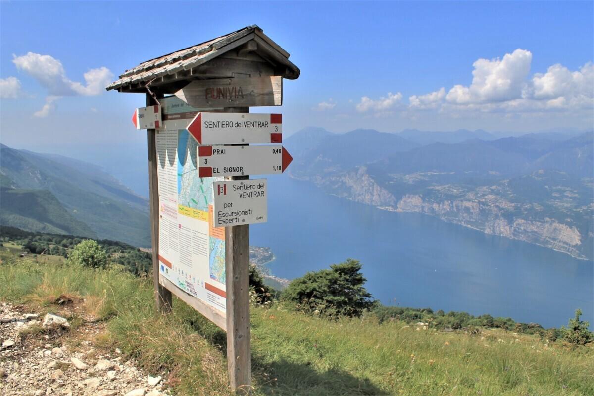 Overzichtsbord Monte Baldo