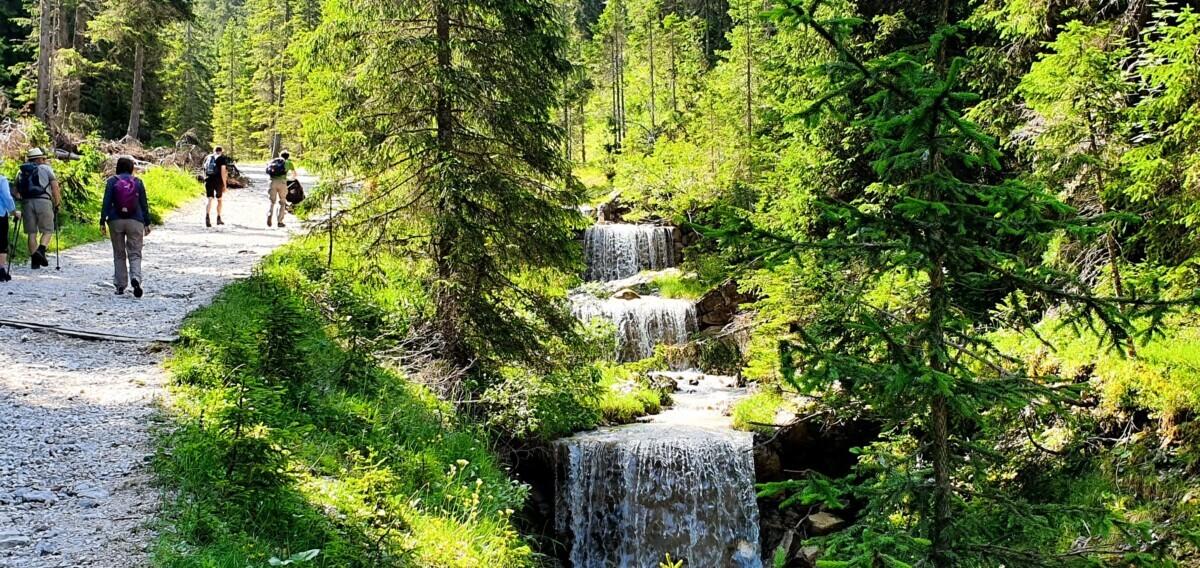 Beekje met watervalletjes