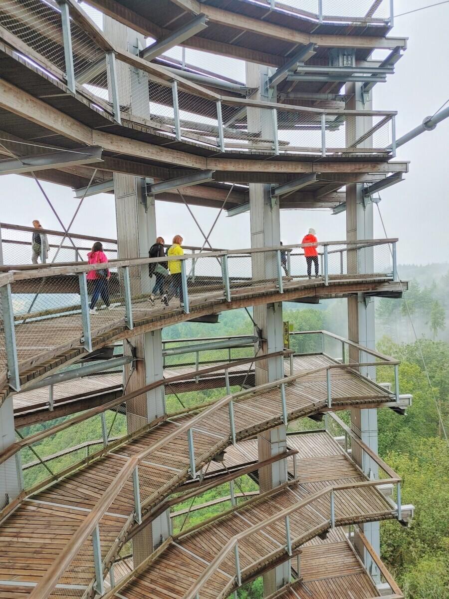 Halverwege de observatietoren in Saarland