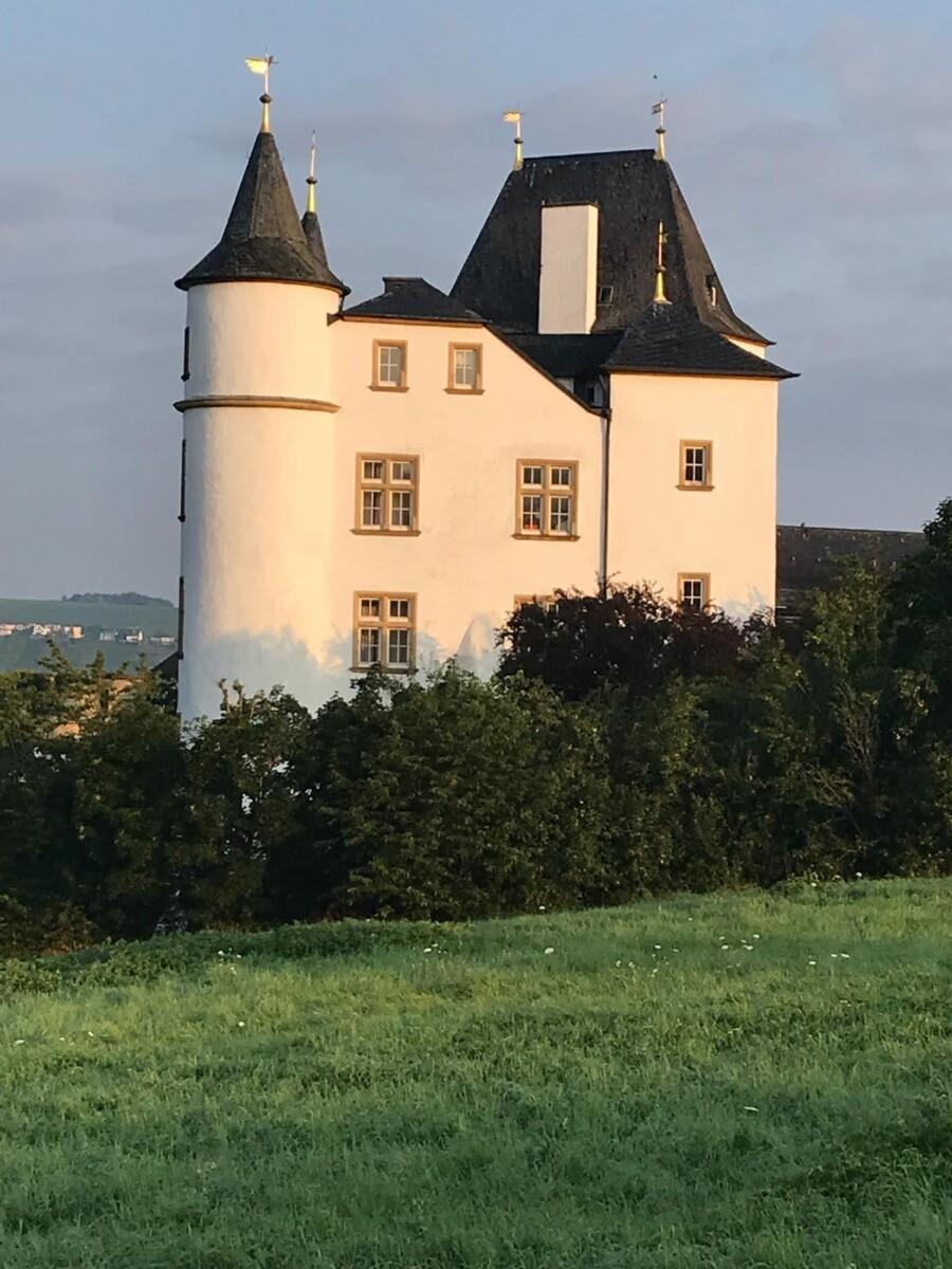 Schloss Berg in Saarland, het prachtige vijfsterrenhotel waar we 2 nachten verblijven