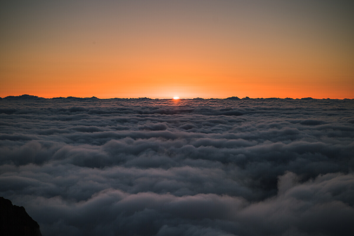 Zonsopgang Pico do Aieiro