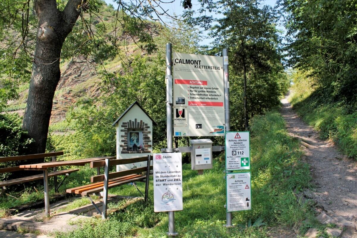 Vertrekpunt Calmont Klettersteig