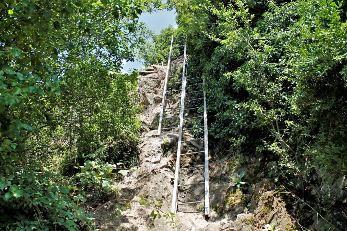Ladders op de Calmont Klettersteig