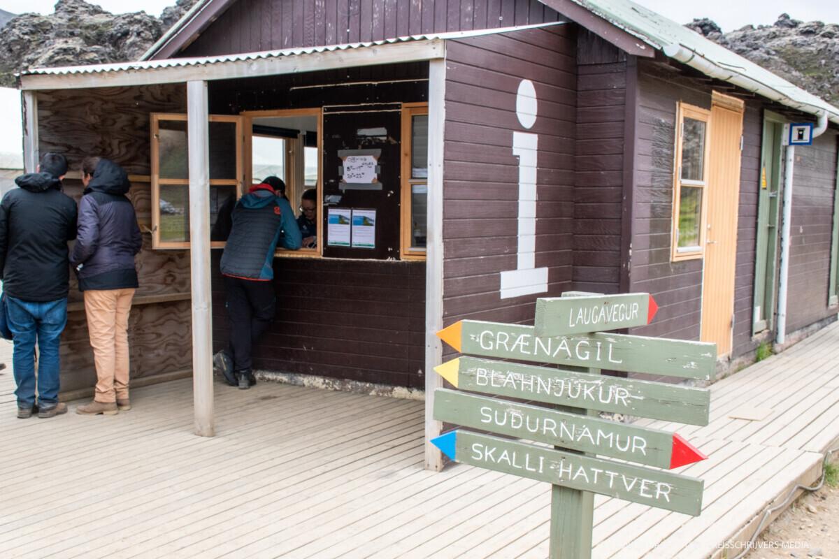 Informatie over de routes in Landmannalaugar.