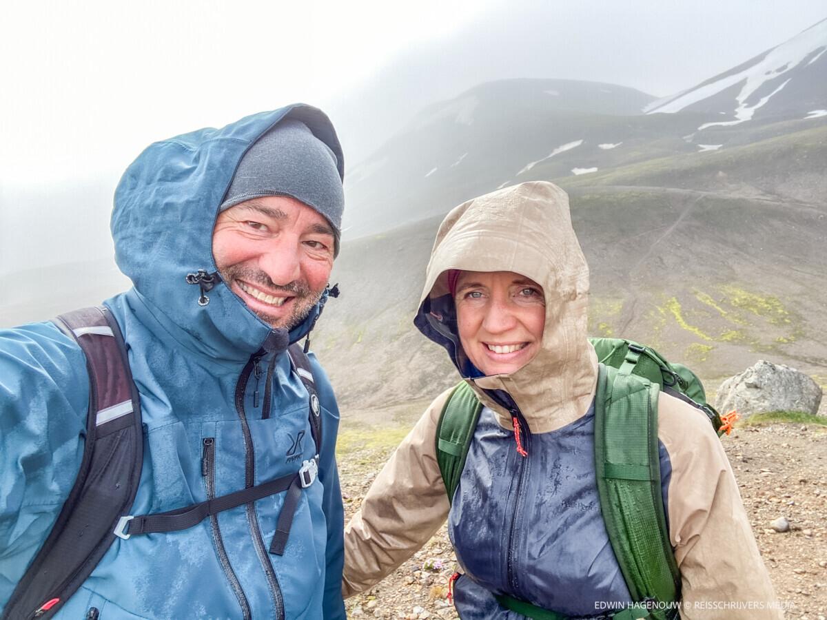 Ook in de regen genieten we met volle teugen. Foto: Edwin Hagenouw