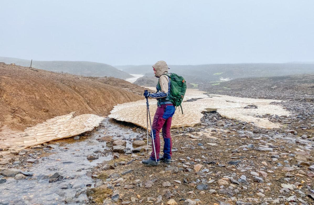 Stevig ingepakt ga ik door naar de top. Foto: Edwin Hagenouw