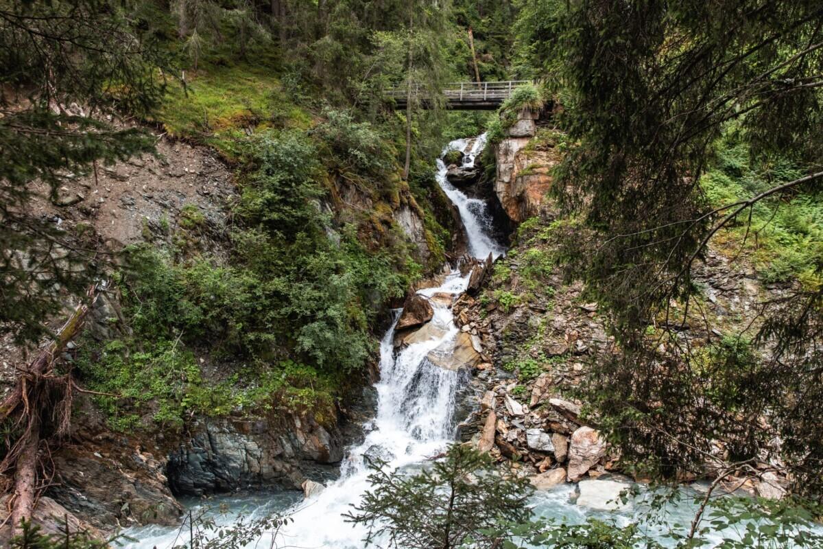 Waterval op de Iseltrail. Foto: TVB Osttirol Ramona Waldner