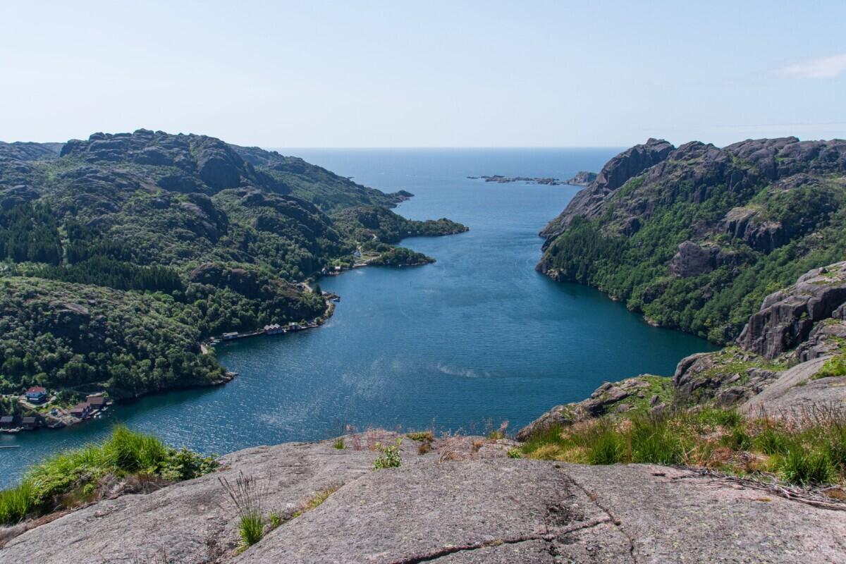 Het uitzicht van Jøssingfjorden