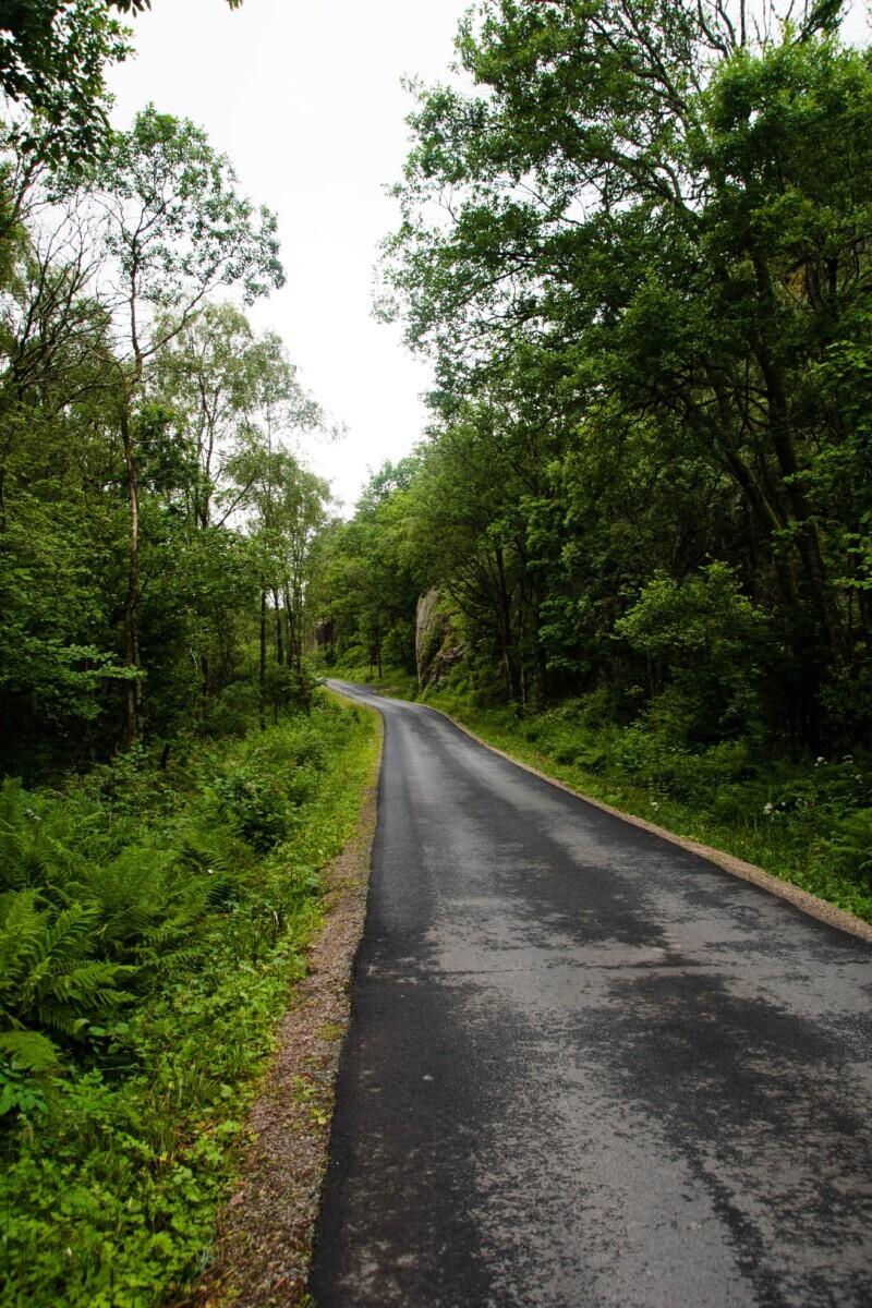 Wandelen op verharde wegen