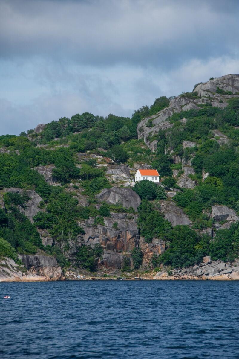 Huisje op de rots