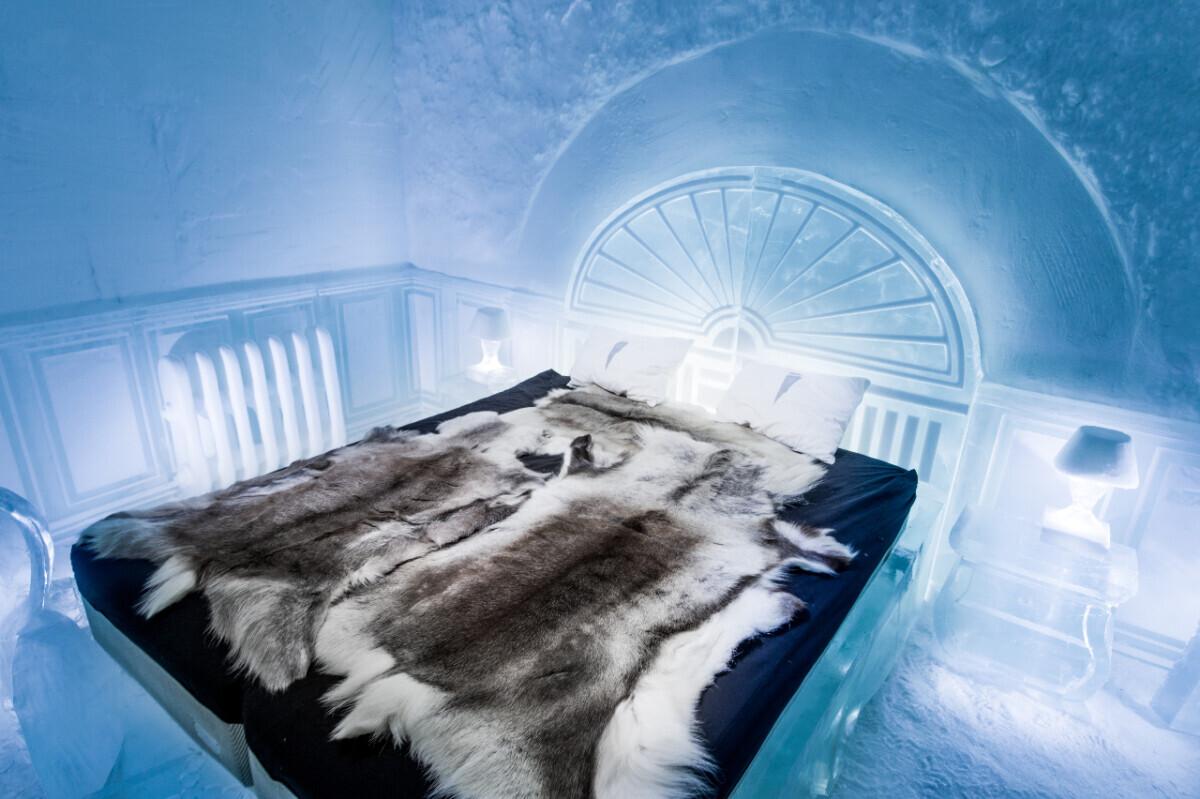 Buro Scanbrit - Slaap in het IJshotel in Zweden. Foto: Asaf Kliger