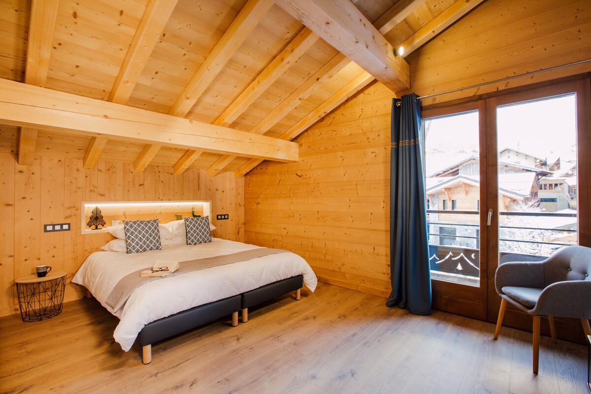Slaapkamer in chalet