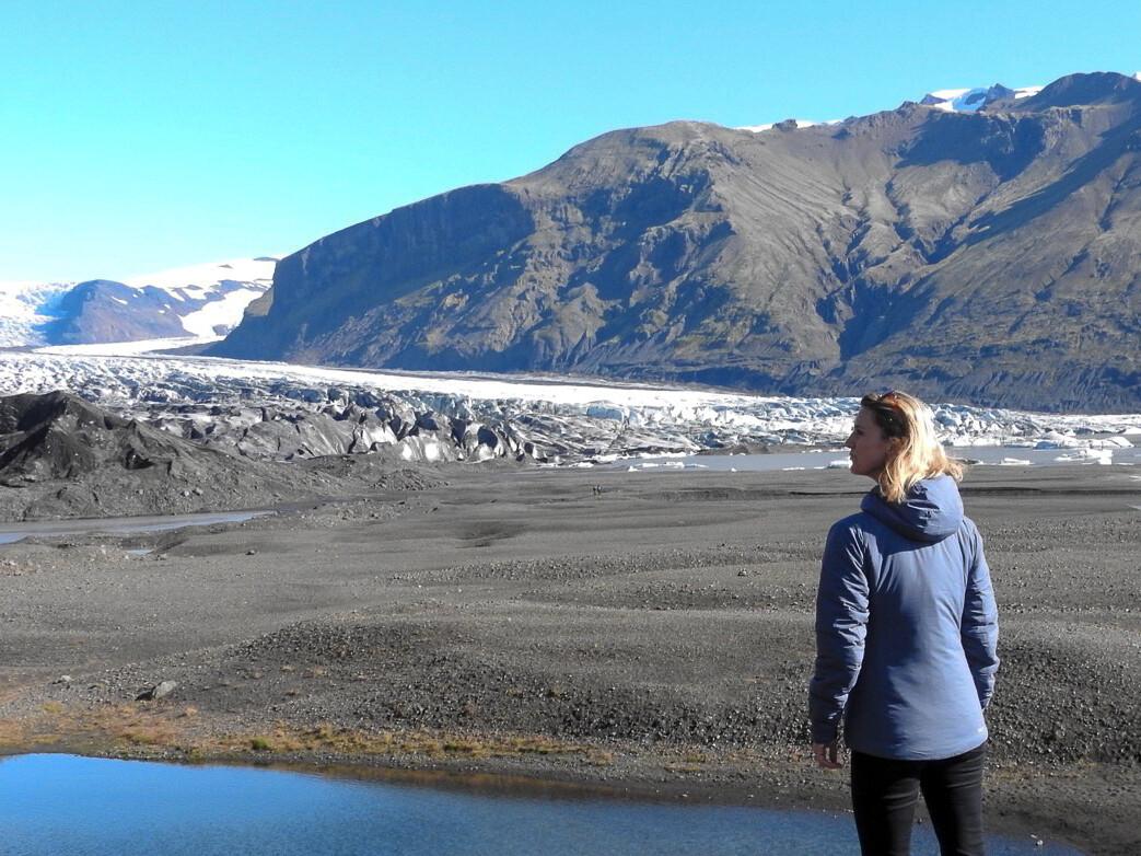 Wandeling naar de gletsjer Skaftafellsjökull. Foto: Pauline van der Waal