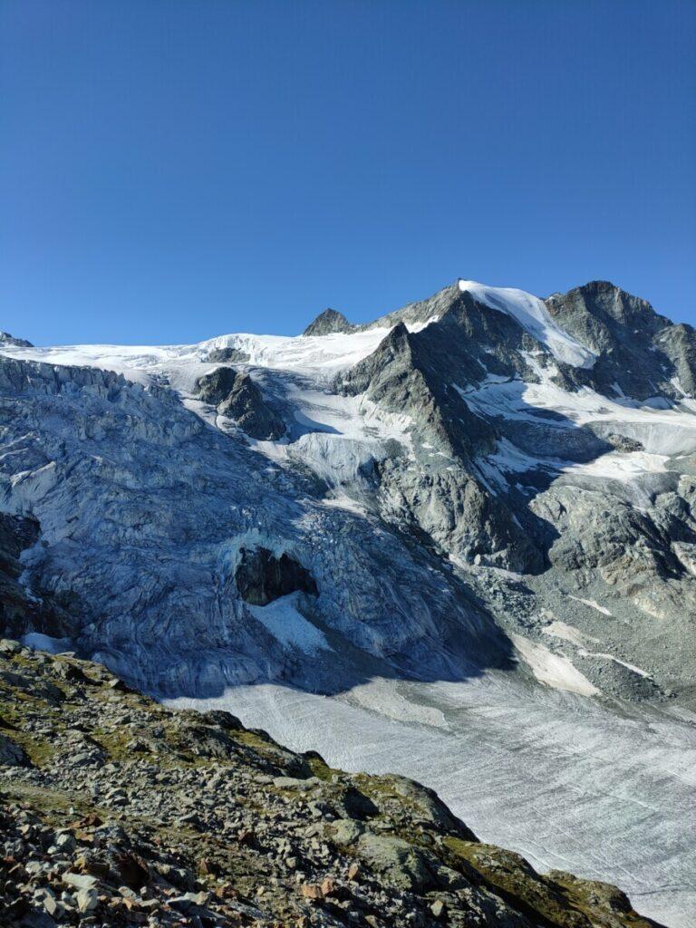Glacier de Moiry en Pointes de Mourti