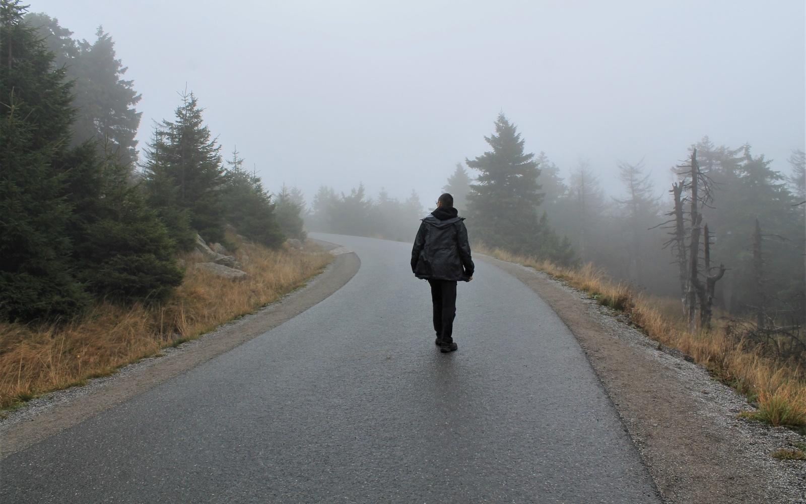 De Brocken wordt omgeven door mist